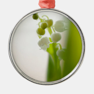 Lily of the Valley Flower Silver-Colored Round Ornament