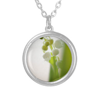 Lily of the Valley Flower Silver Plated Necklace