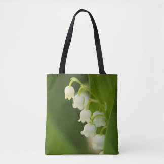 Lily of the Valley Flower Sketc Tote Bag