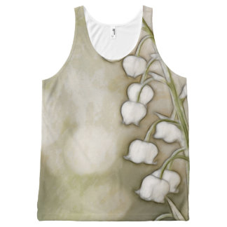 Lily of the Valley Flower Sketch All-Over-Print Tank Top