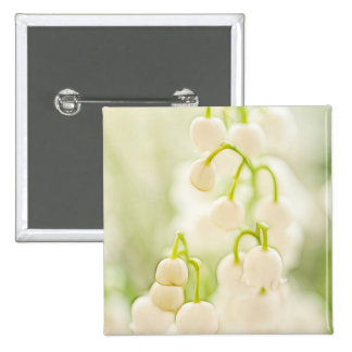 Lily of the Valley Flowers 2 Inch Square Button