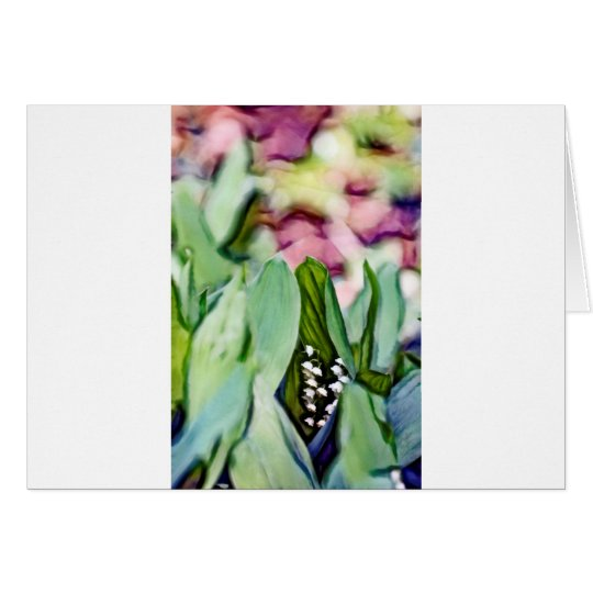 Lily of the Valley Flowers Hidden in the Leaves Card