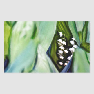 Lily of the Valley Flowers Hidden in the Leaves Sticker