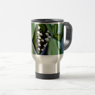 Lily of the Valley Flowers Hidden in the Leaves Travel Mug