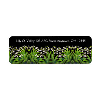 Lily of the Valley Flowers Label Return Address Label