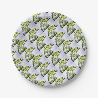 Lily of the Valley Flowers Paper Plate