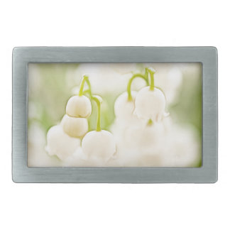 Lily of the Valley Flowers Rectangular Belt Buckle