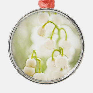 Lily of the Valley Flowers Silver-Colored Round Ornament