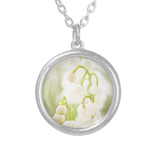 Lily of the Valley Flowers Silver Plated Necklace
