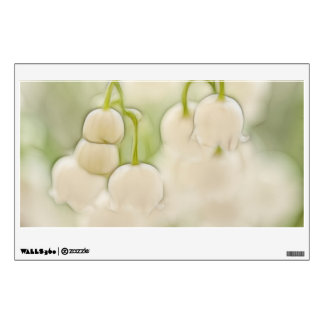 Lily of the Valley Flowers Sketch Wall Decal