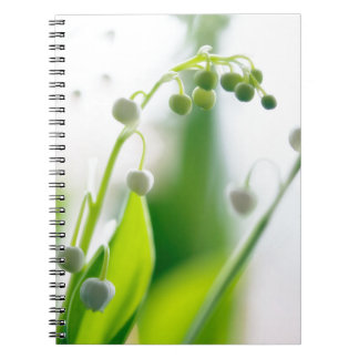 Lily of the Valley Flowers Spiral Notebook