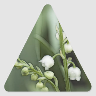 Lily of the Valley Flowers Triangle Sticker