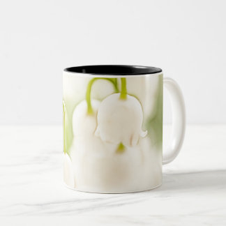 Lily of the Valley Flowers Two-Tone Coffee Mug