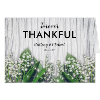 Lily of the Valley Forever Thankful Wedding Card