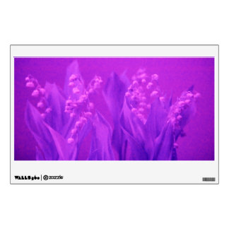 Lily of the Valley in Dark Orchid Wall Sticker