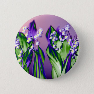 Lily of the Valley in Lavender 2 Inch Round Button