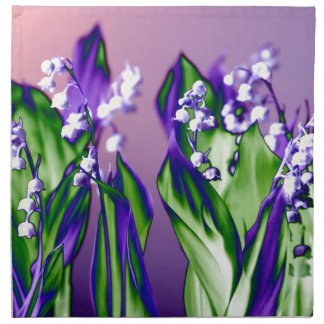 Lily of the Valley in Lavender Napkin