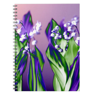 Lily of the Valley in Lavender Notebook