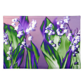 Lily of the Valley in Lavender Placemat