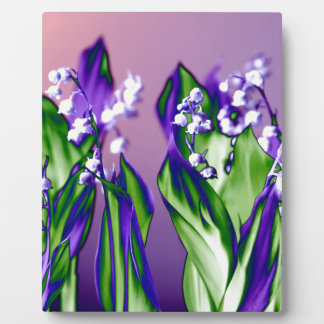Lily of the Valley in Lavender Plaque
