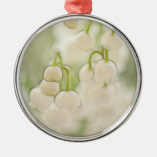 Lily of the Valley in Lavender Sketch Silver-Colored Round Ornament