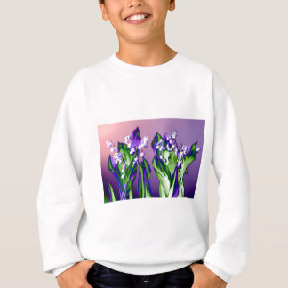 Lily of the Valley in Lavender Sweatshirt