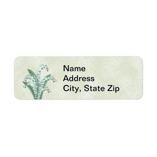 Lily of the Valley Label Return Address Label