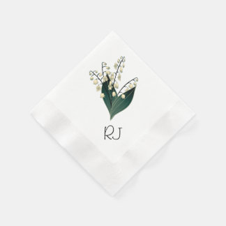 Lily of the valley paper napkin