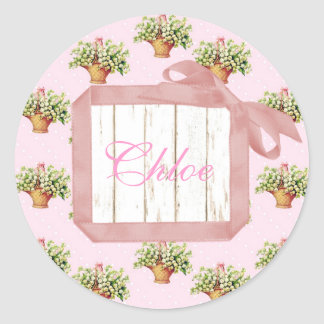 Lily of the Valley Personalized Stickers