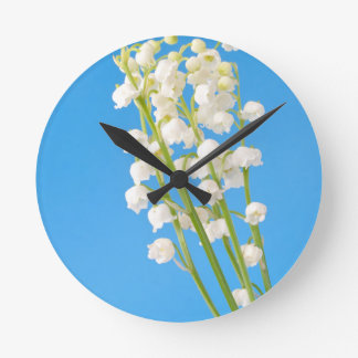 lily of the valley round clock