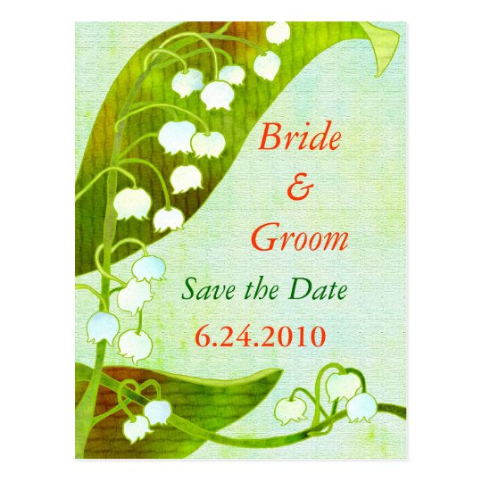 Lily of the Valley: Save-the-Date Wedding Postcard