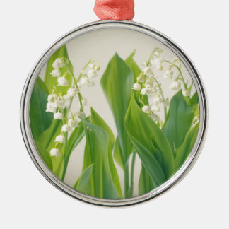 Lily of the Valley Silver-Colored Round Ornament