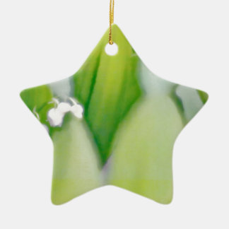 Lily of the Valley Sketch Ceramic Star Ornament