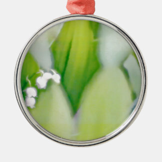 Lily of the Valley Sketch Silver-Colored Round Ornament