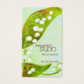 Lily of the Valley Spa & Salon Business Cards
