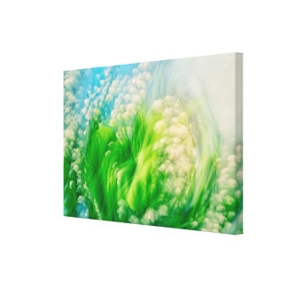 Lily of the Valley Swirl Canvas Print