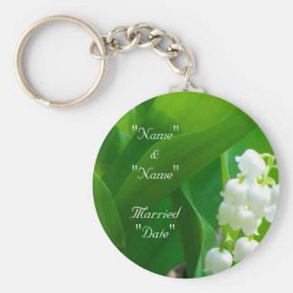 Lily of The Valley Wedding Keychain