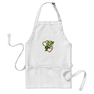 Lily of the Valley with Two Hearts Standard Apron