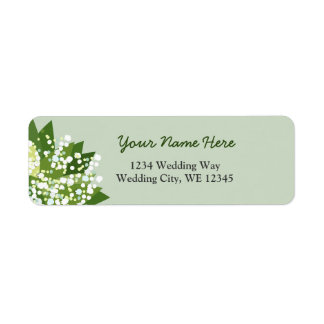 Lily of the valley wreath return address label