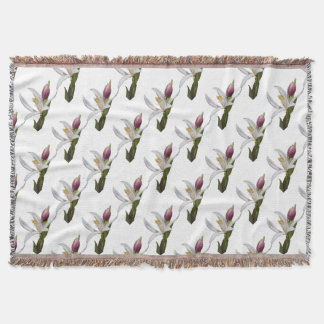 lily on white background throw blanket