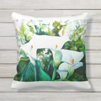 "Lily Outdoor Throw Pillow, Throw Pillow 16"" x 16"""