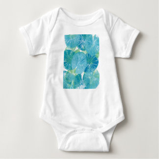 Lily Pad blues Baby Bodysuit
