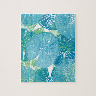 Lily Pad blues Jigsaw Puzzle