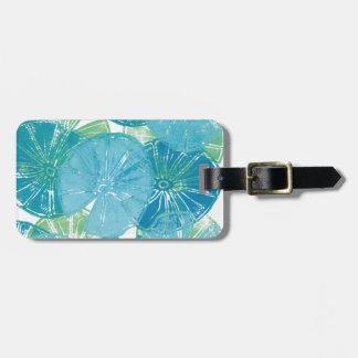 Lily Pad blues Luggage Tag