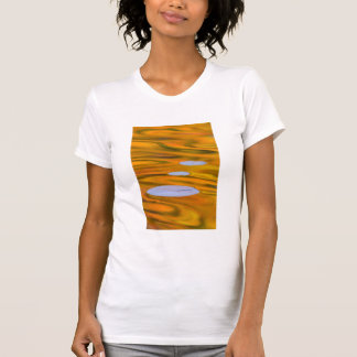 Lily pad on orange water, Canada T-Shirt