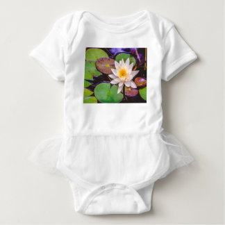 Lily pad on the water baby bodysuit
