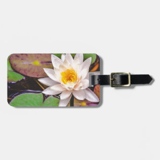 Lily pad on the water luggage tag