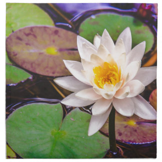 Lily pad on the water napkin