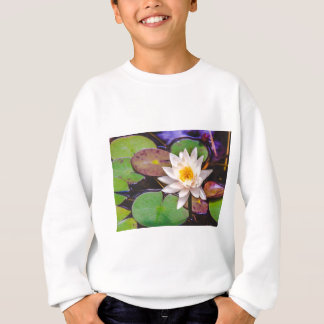 Lily pad on the water sweatshirt