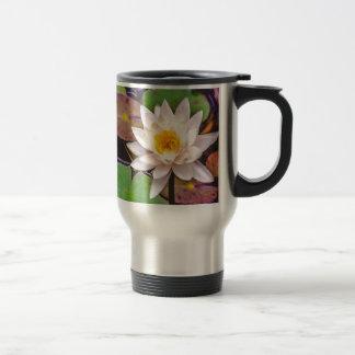 Lily pad on the water travel mug